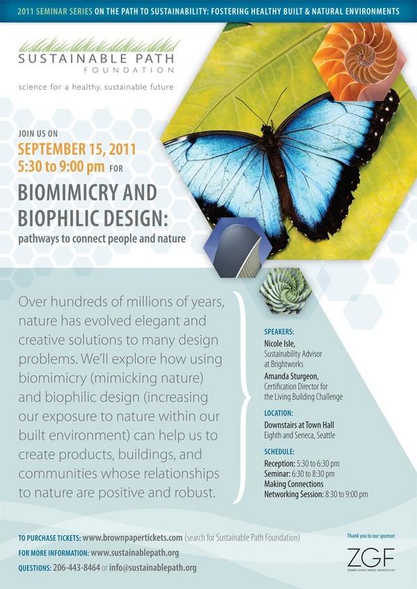 Upcoming Biomimicry and Biophilic Design Seminar – Seminar Flyer